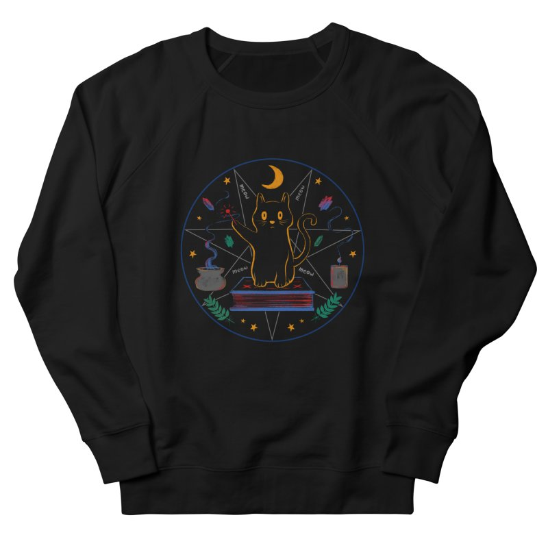 MEOW-GIC! Women's French Terry Sweatshirt by Winterglaze's Artist Shop