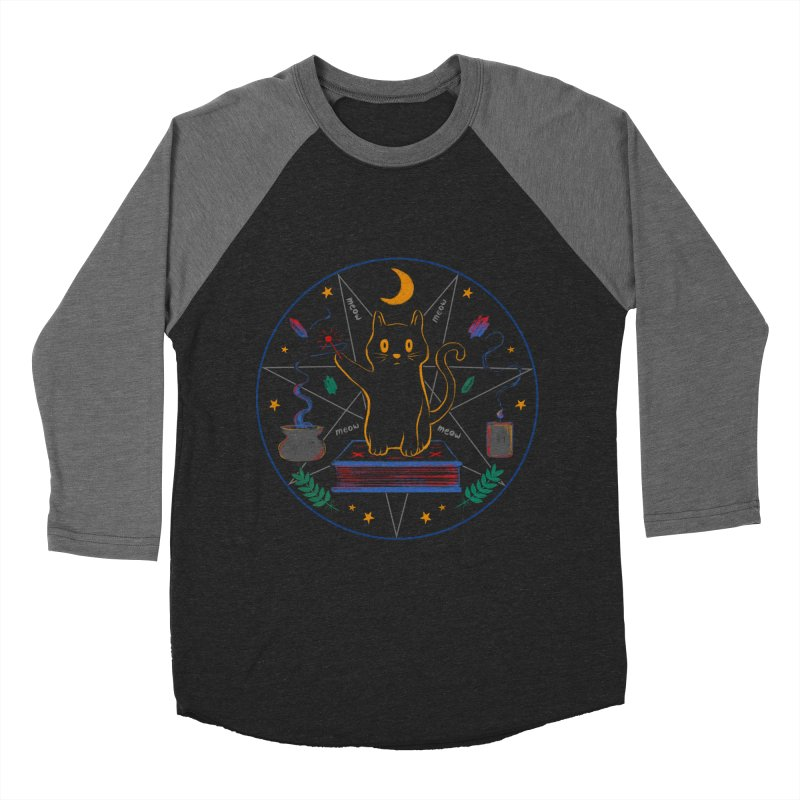 MEOW-GIC! Men's Baseball Triblend Longsleeve T-Shirt by Winterglaze's Artist Shop
