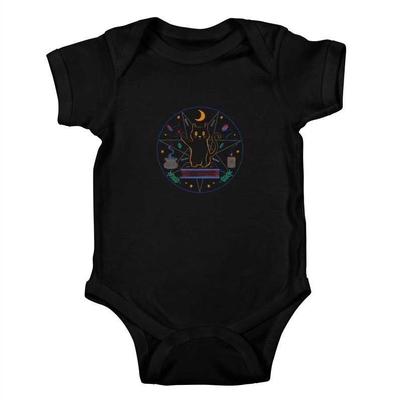MEOW-GIC! Kids Baby Bodysuit by Winterglaze's Artist Shop