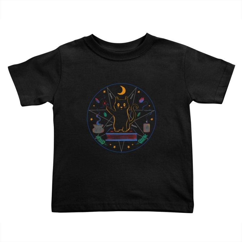 MEOW-GIC! Kids Toddler T-Shirt by Winterglaze's Artist Shop