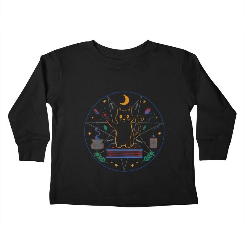 MEOW-GIC! Kids Toddler Longsleeve T-Shirt by Winterglaze's Artist Shop