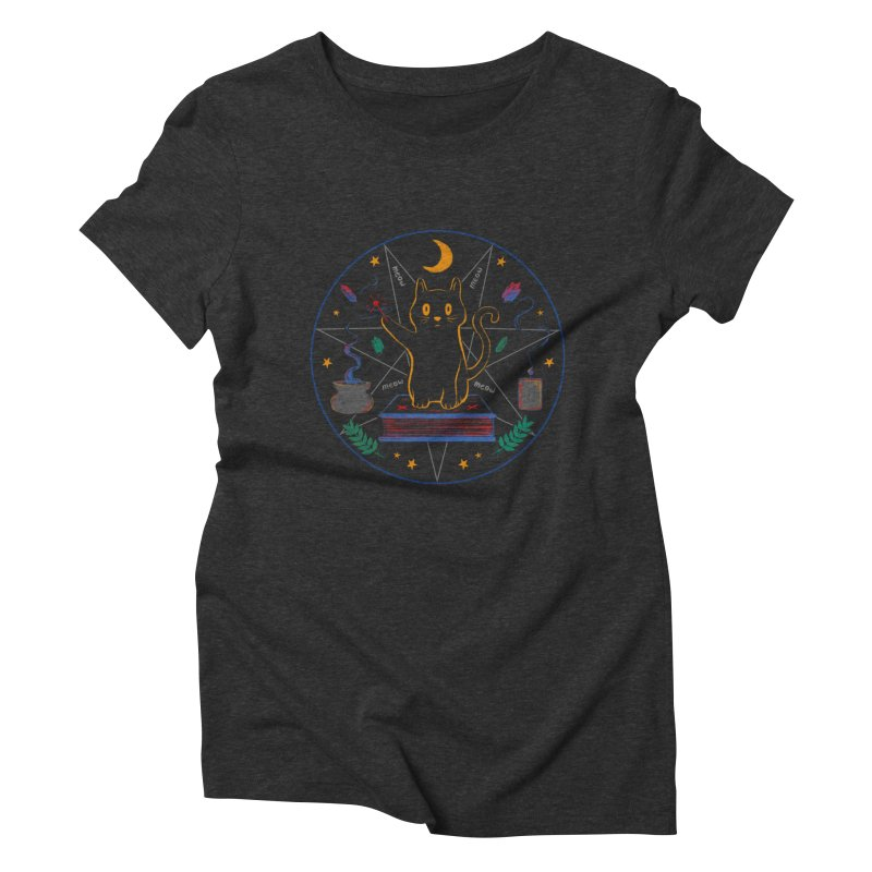 MEOW-GIC! Women's Triblend T-Shirt by Winterglaze's Artist Shop