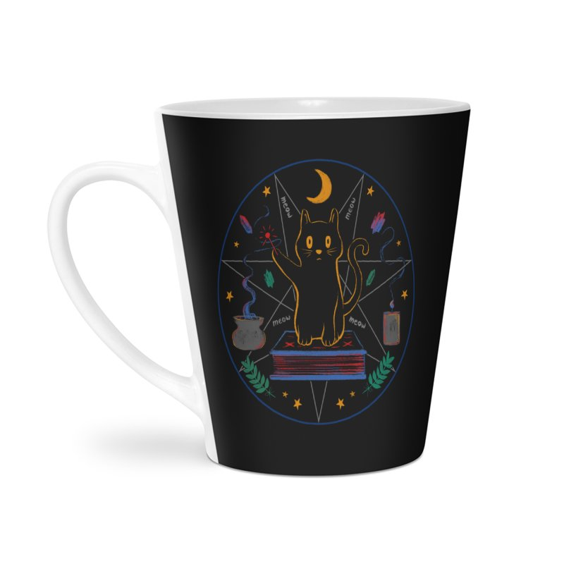 MEOW-GIC! Accessories Latte Mug by Winterglaze's Artist Shop