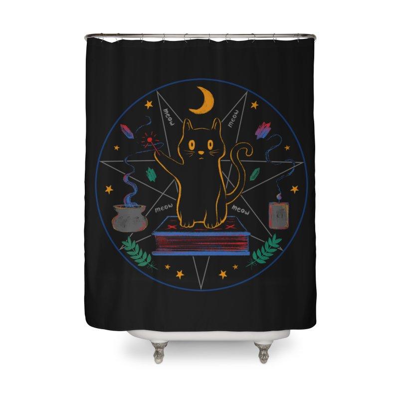 MEOW-GIC! Home Shower Curtain by Winterglaze's Artist Shop