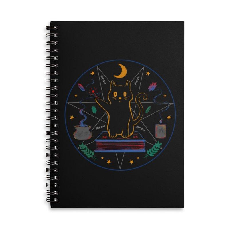 MEOW-GIC! Accessories Lined Spiral Notebook by Winterglaze's Artist Shop