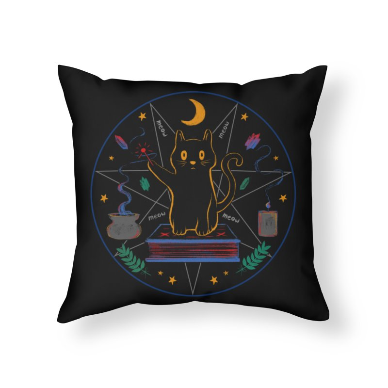 MEOW-GIC! Home Throw Pillow by Winterglaze's Artist Shop