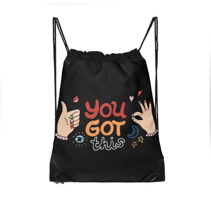 YOU GOT THIS! Accessories Drawstring Bag Bag by Winterglaze's Artist Shop