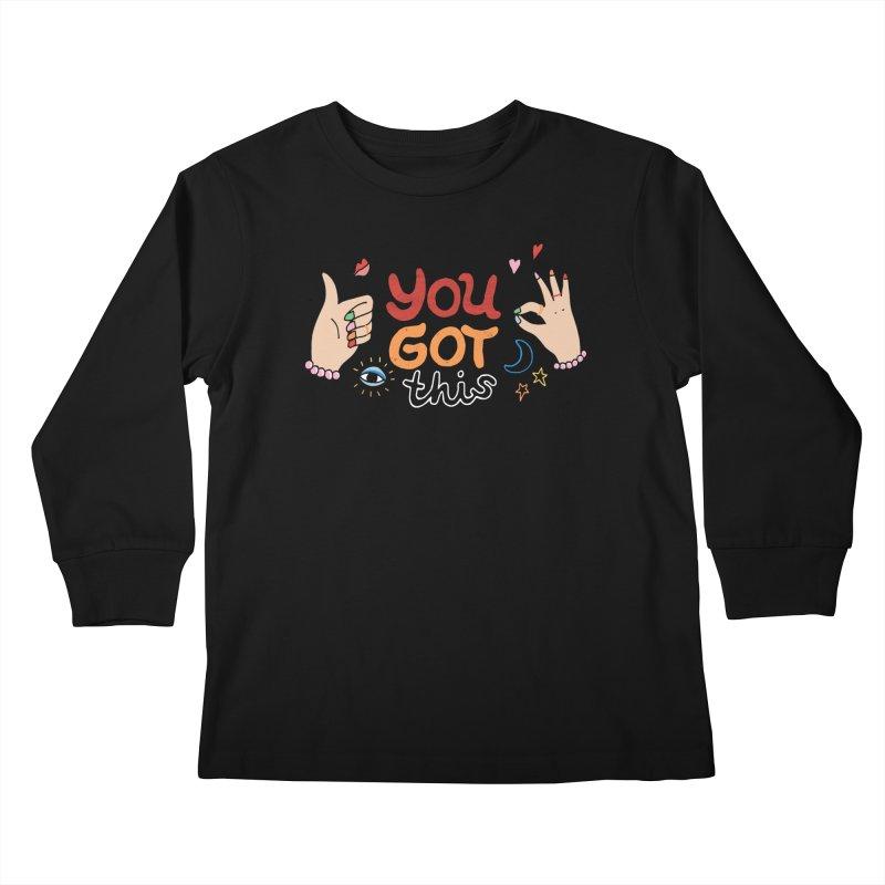 YOU GOT THIS! Kids Longsleeve T-Shirt by Winterglaze's Artist Shop