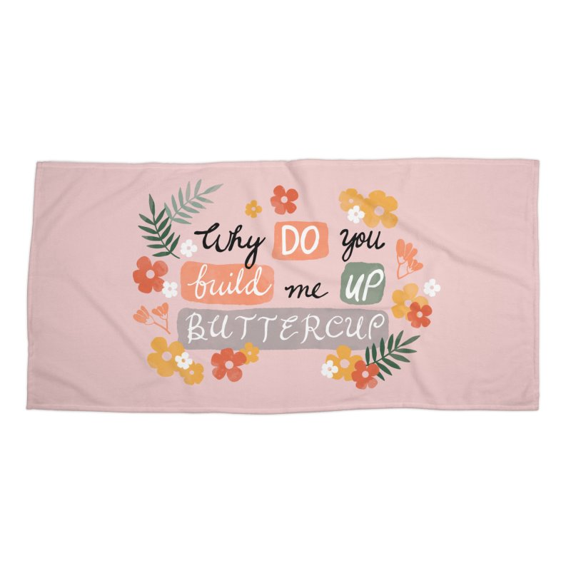 BUTTERCUP Accessories Beach Towel by Winterglaze's Artist Shop