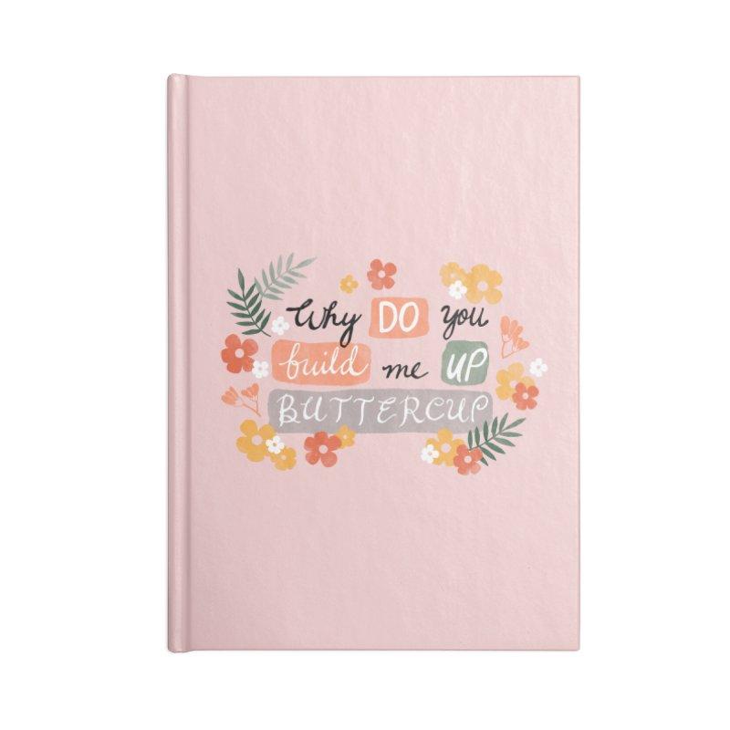 BUTTERCUP Accessories Lined Journal Notebook by Winterglaze's Artist Shop
