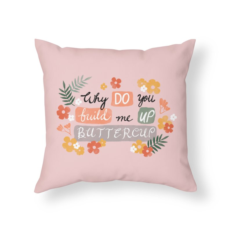 BUTTERCUP Home Throw Pillow by Winterglaze's Artist Shop