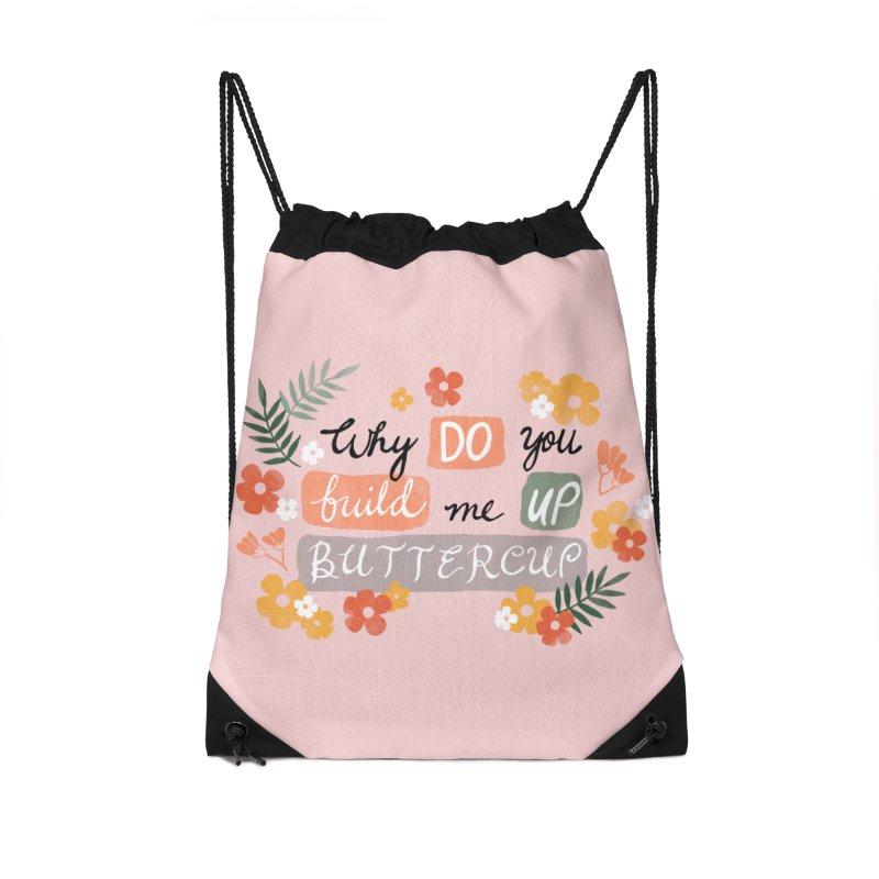 BUTTERCUP Accessories Drawstring Bag Bag by Winterglaze's Artist Shop