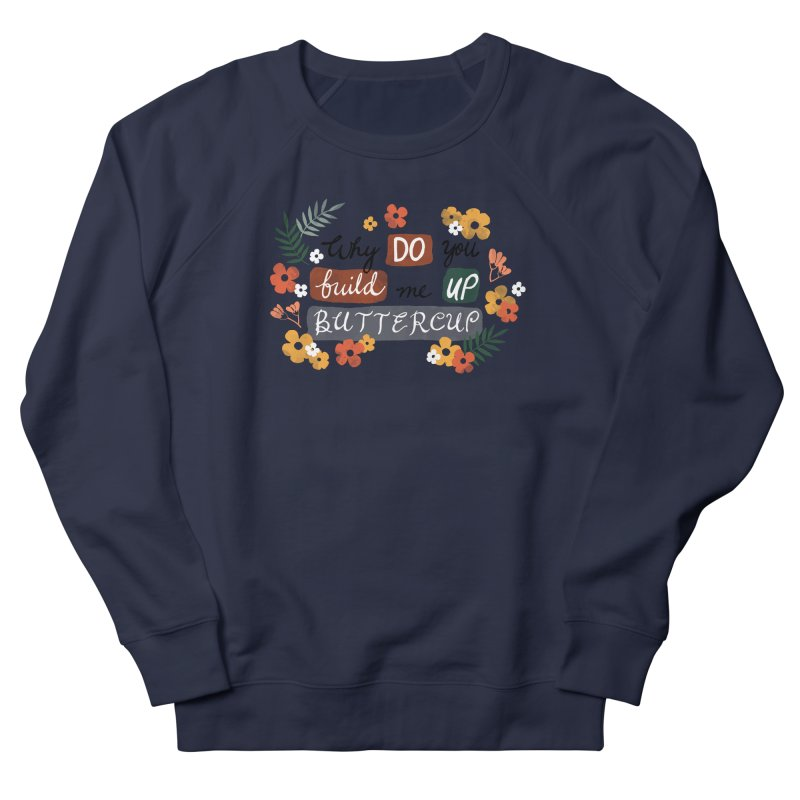 BUTTERCUP Men's French Terry Sweatshirt by Winterglaze's Artist Shop