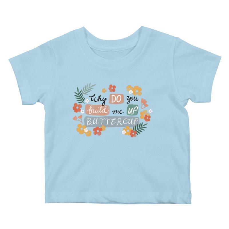 BUTTERCUP Kids Baby T-Shirt by Winterglaze's Artist Shop