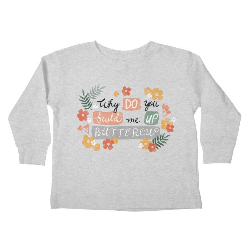 BUTTERCUP Kids Toddler Longsleeve T-Shirt by Winterglaze's Artist Shop