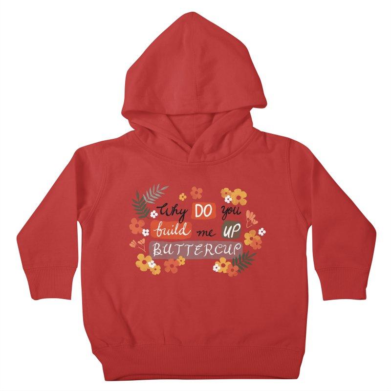 BUTTERCUP Kids Toddler Pullover Hoody by Winterglaze's Artist Shop