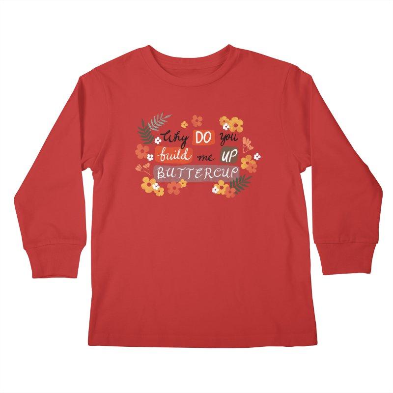 BUTTERCUP Kids Longsleeve T-Shirt by Winterglaze's Artist Shop