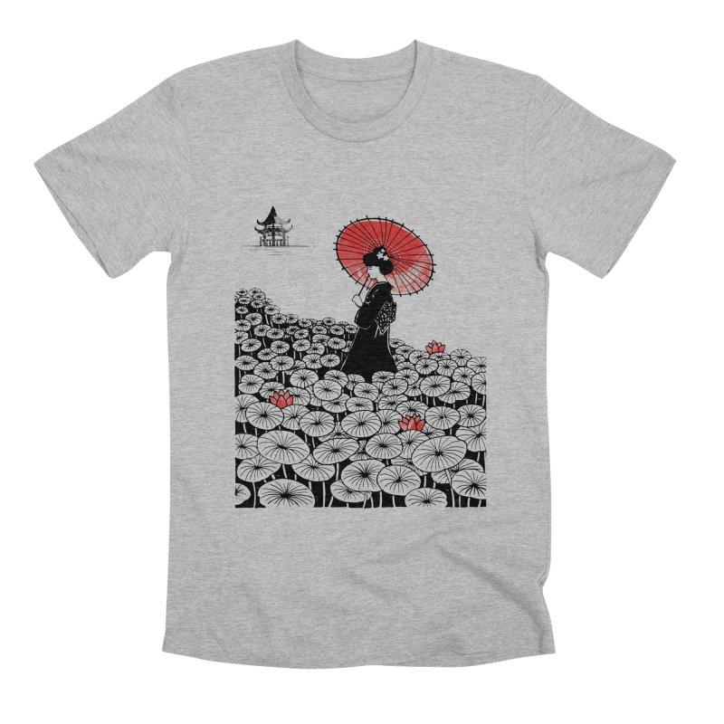 Geisha Men's Premium T-Shirt by Winterglaze's Artist Shop