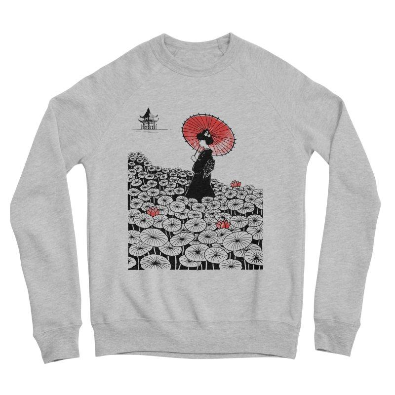 Geisha Men's Sponge Fleece Sweatshirt by Winterglaze's Artist Shop