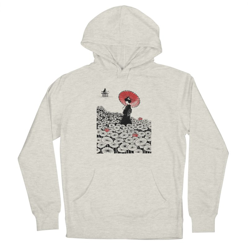 Geisha Men's French Terry Pullover Hoody by Winterglaze's Artist Shop