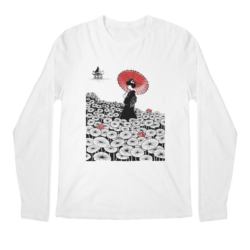 Geisha Men's Regular Longsleeve T-Shirt by Winterglaze's Artist Shop