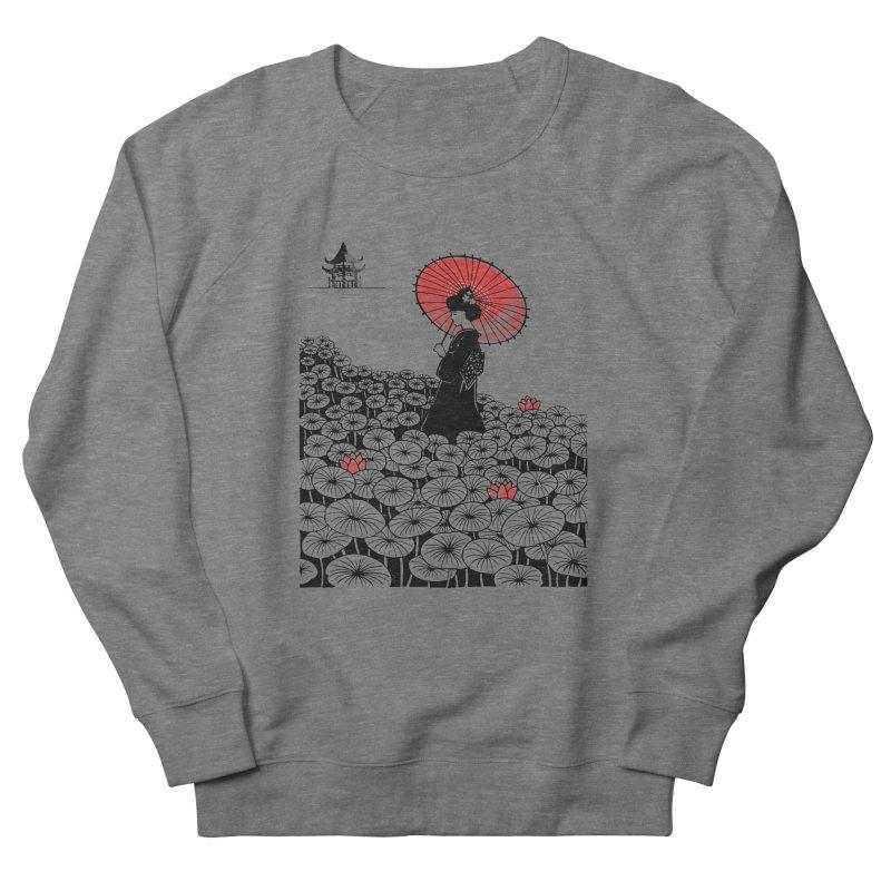 Geisha Women's French Terry Sweatshirt by Winterglaze's Artist Shop