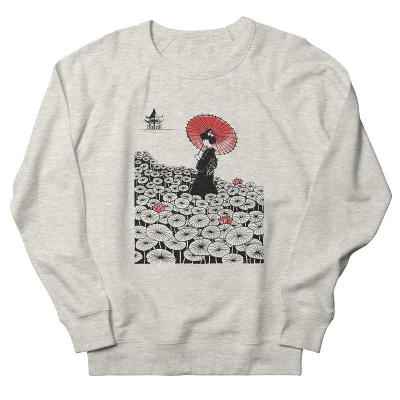 Geisha Men's French Terry Sweatshirt by Winterglaze's Artist Shop