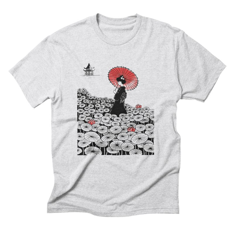 Geisha Men's Triblend T-Shirt by Winterglaze's Artist Shop