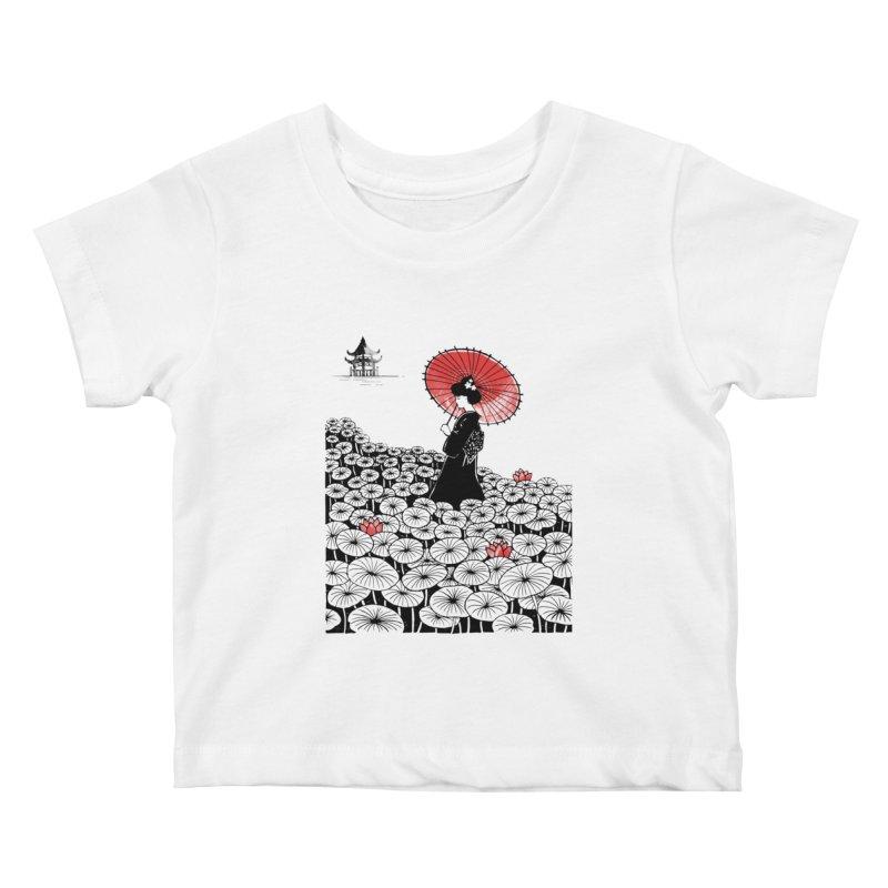 Geisha Kids Baby T-Shirt by Winterglaze's Artist Shop