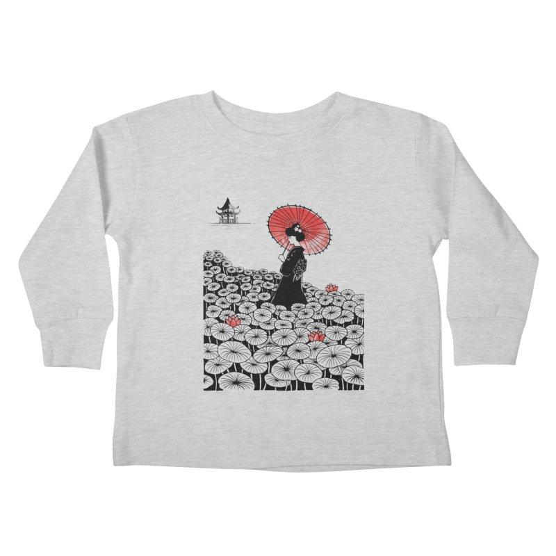 Geisha Kids Toddler Longsleeve T-Shirt by Winterglaze's Artist Shop
