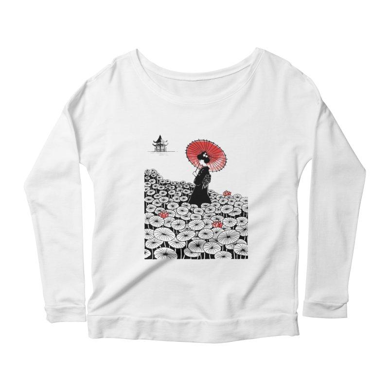 Geisha Women's Scoop Neck Longsleeve T-Shirt by Winterglaze's Artist Shop