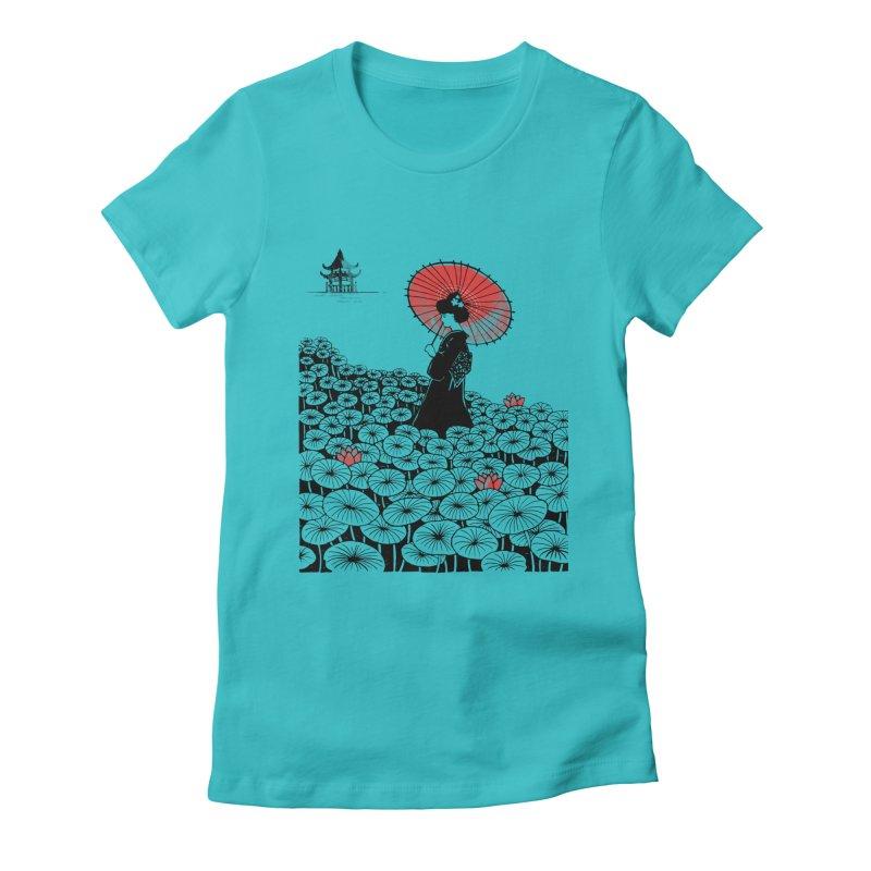 Geisha Women's Fitted T-Shirt by Winterglaze's Artist Shop