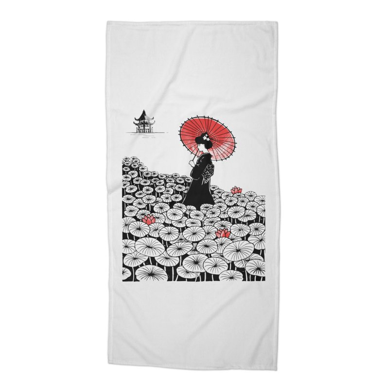 Geisha Accessories Beach Towel by Winterglaze's Artist Shop