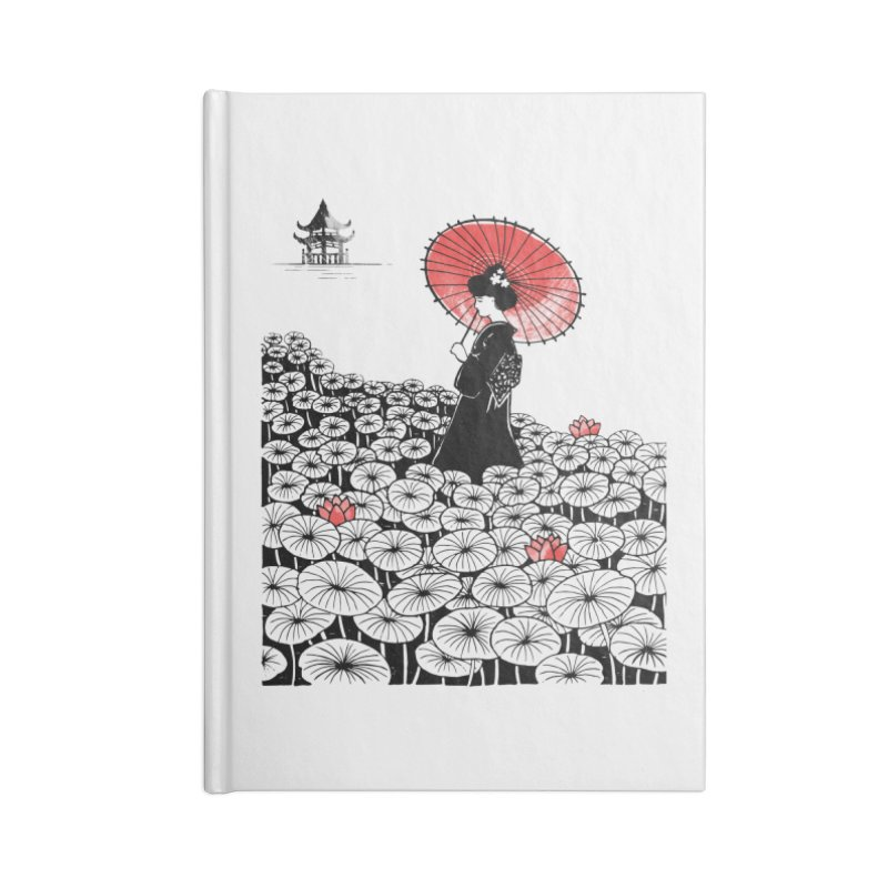 Geisha Accessories Lined Journal Notebook by Winterglaze's Artist Shop