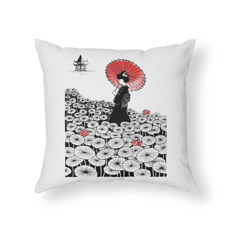 Geisha Home Throw Pillow by Winterglaze's Artist Shop