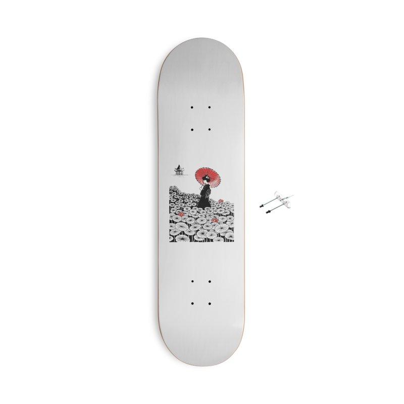 Geisha Accessories With Hanging Hardware Skateboard by Winterglaze's Artist Shop