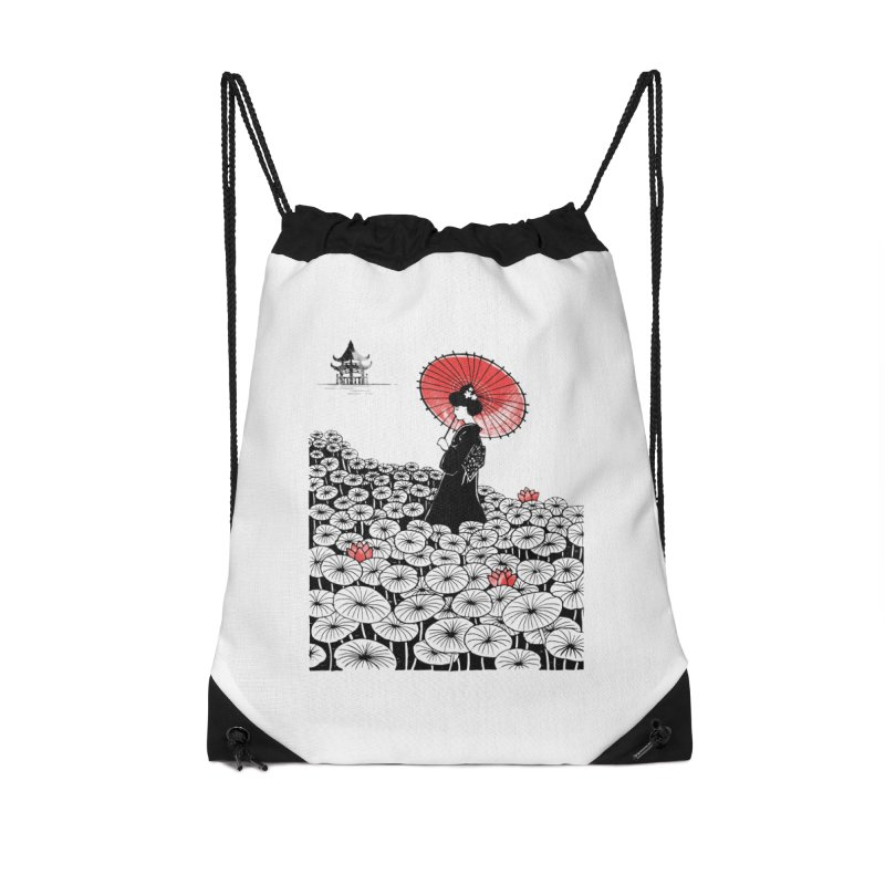 Geisha Accessories Drawstring Bag Bag by Winterglaze's Artist Shop