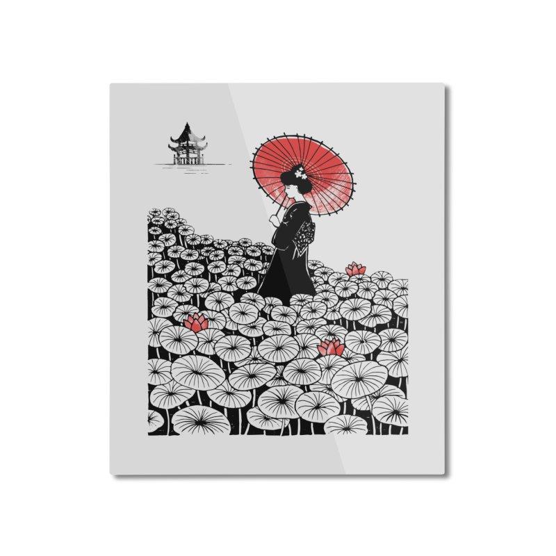 Geisha Home Mounted Aluminum Print by Winterglaze's Artist Shop