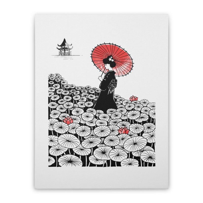 Geisha Home Stretched Canvas by Winterglaze's Artist Shop
