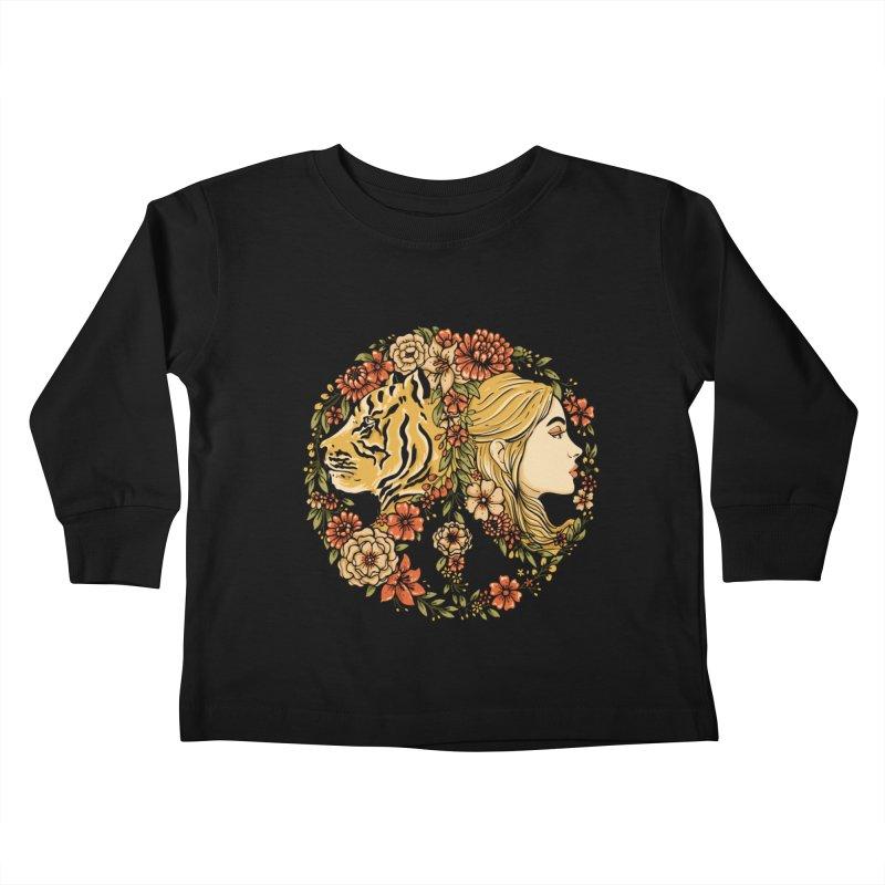 INNER PEACE Kids Toddler Longsleeve T-Shirt by Winterglaze's Artist Shop