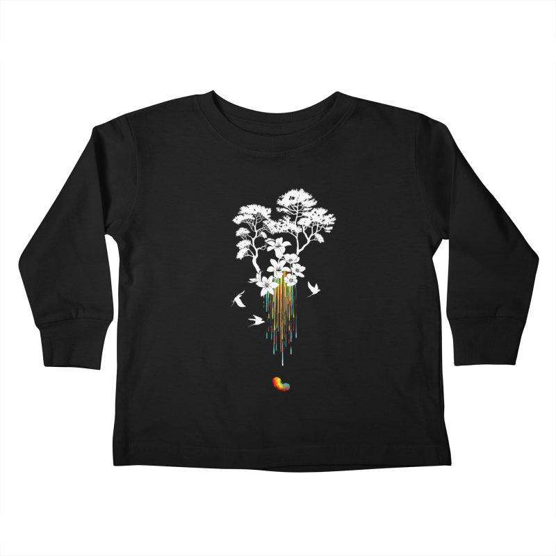 NATURE'S LITTLE WONDER Kids Toddler Longsleeve T-Shirt by Winterglaze's Artist Shop