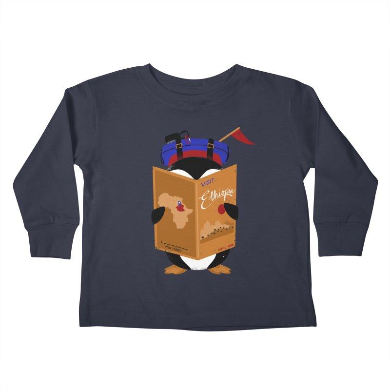 BACKPACKER Kids Toddler Longsleeve T-Shirt by Winterglaze's Artist Shop