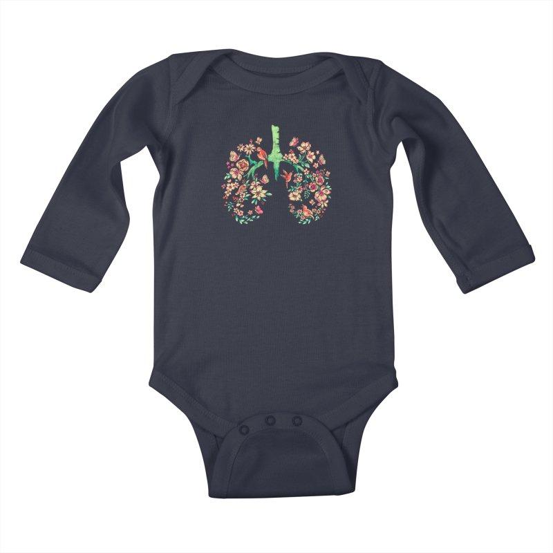 BREATHE Kids Baby Longsleeve Bodysuit by Winterglaze's Artist Shop