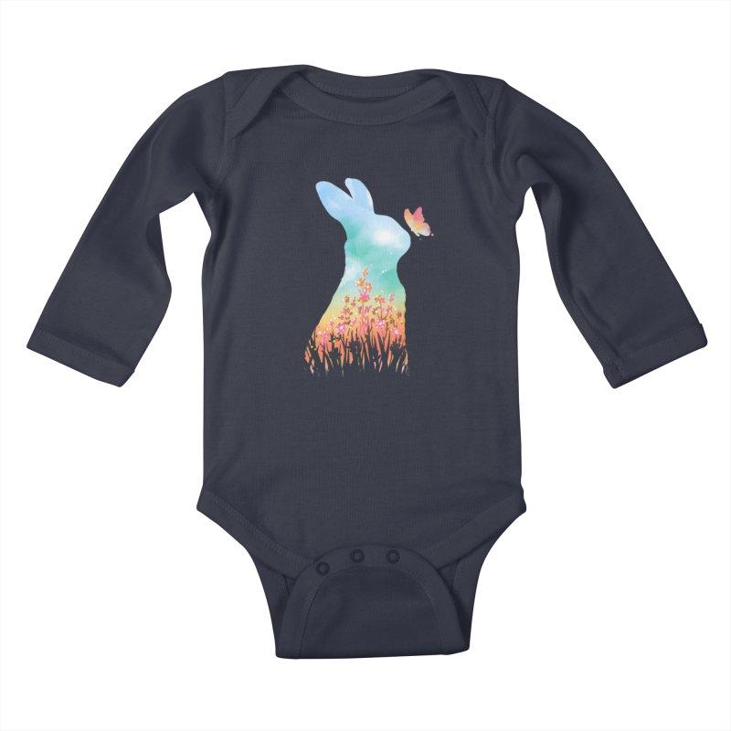 HELLO SPRING Kids Baby Longsleeve Bodysuit by Winterglaze's Artist Shop