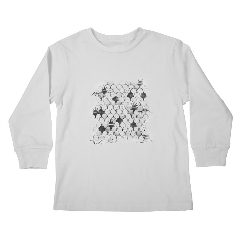 Like a shadow! Kids Longsleeve T-Shirt by Winterglaze's Artist Shop