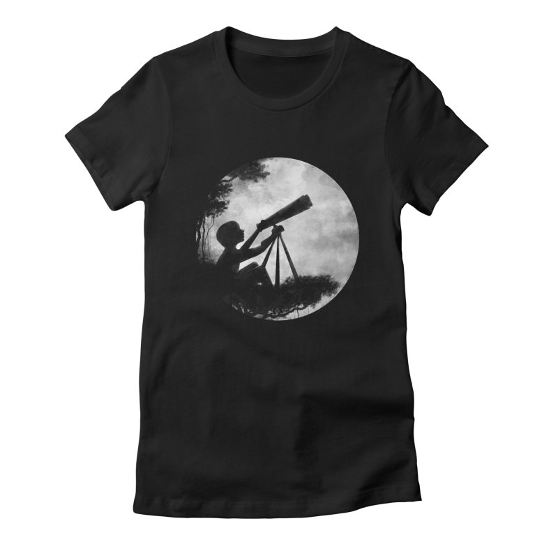 STARGAZER Women's Fitted T-Shirt by Winterglaze's Artist Shop