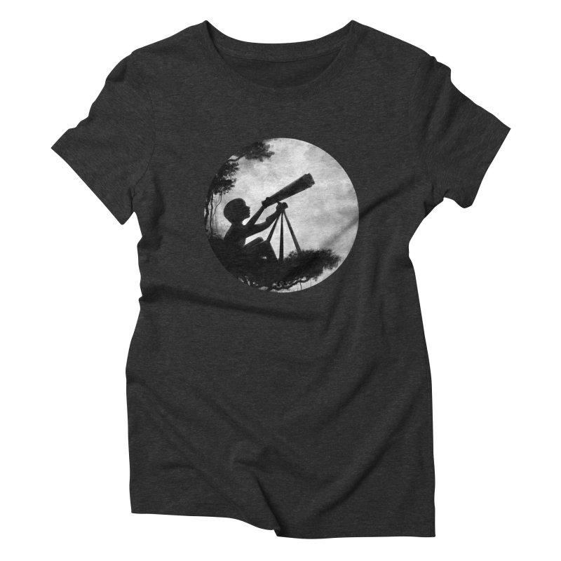 STARGAZER Women's Triblend T-Shirt by Winterglaze's Artist Shop