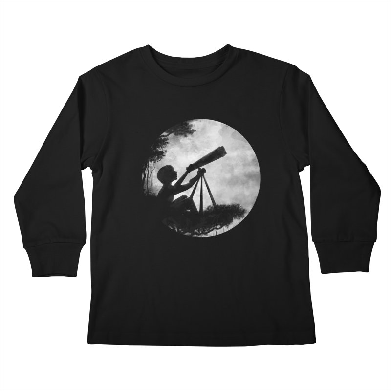 STARGAZER Kids Longsleeve T-Shirt by Winterglaze's Artist Shop