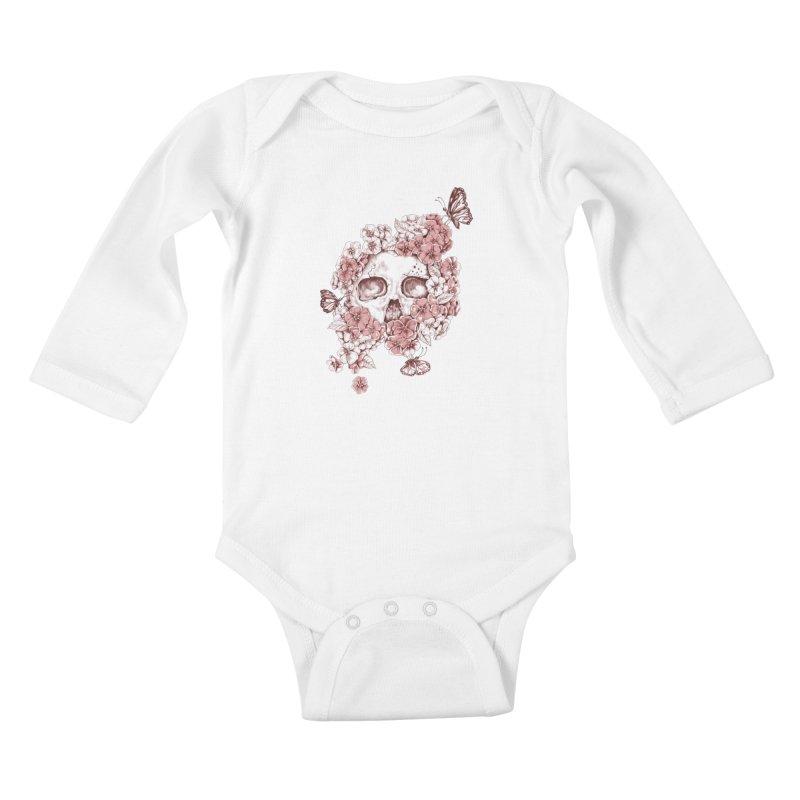 DIE BEAUTIFUL Kids Baby Longsleeve Bodysuit by Winterglaze's Artist Shop