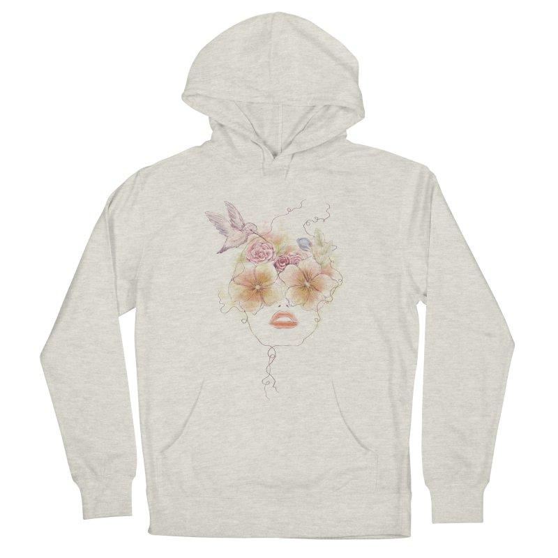 In Full Bloom Women's French Terry Pullover Hoody by Winterglaze's Artist Shop